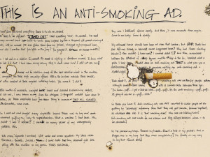 This is an anti-smoking ad