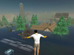 Global warming floods… Second Life