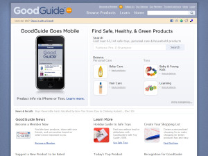 GoodGuide: Ratings of Natural, Green and Healthy Products