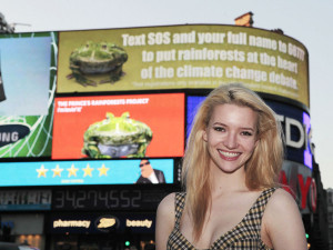 Piccadilly Circus signs come to life and go green