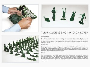 Turn soldiers back into children