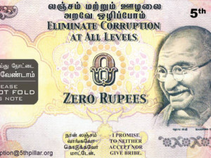 Zero Rupee note fights corruption
