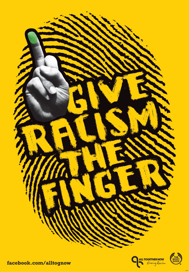 give-racism-the-finger-yellow