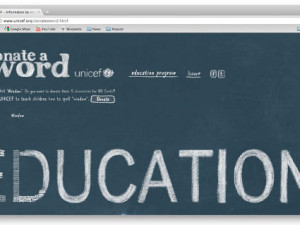 Donate a word for Unicef