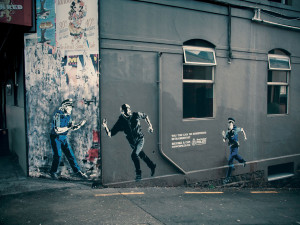 Become a Cop – Banksy Style