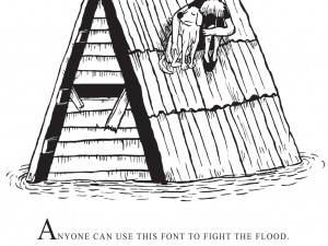 A Font to Fight a Flood