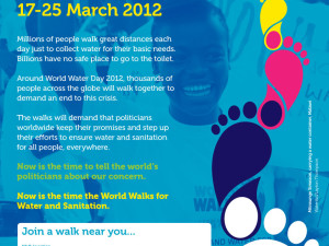The World Walks for Water and Sanitation #worldwaterday