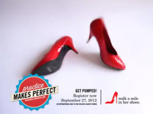 Men in heels step up the fight against violence
