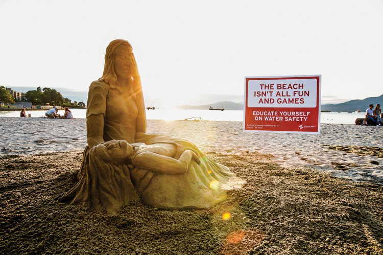 Lifesaving-Society-of-BC-Drowning-Prevention-Sand-Sculpture