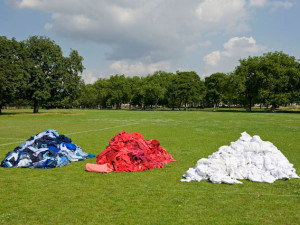 Marks & Spencer and Oxfam create giant GB flag from unwanted clothes #shwopping
