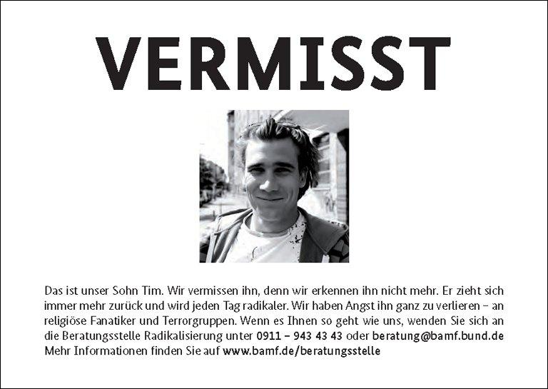 The Posters Written In German And Turkish Will Be Disseminated On Monday In  Online Networks Such As Google And Facebook, As On 21.  Missing People Posters