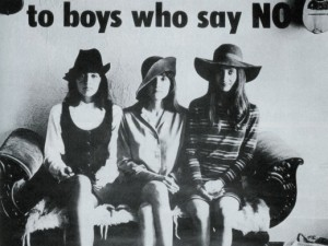 """""""Girls Say Yes to Boys Who Say No"""" – Joan Baez, 1968"""