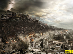 Amnesty ad compares arms trade to tsunami disasters