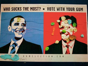 Gum election: Share who sucks the most