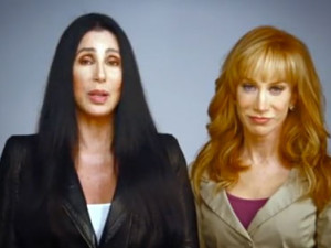 Cher and Kathy Griffin urge American women to vote against Romney
