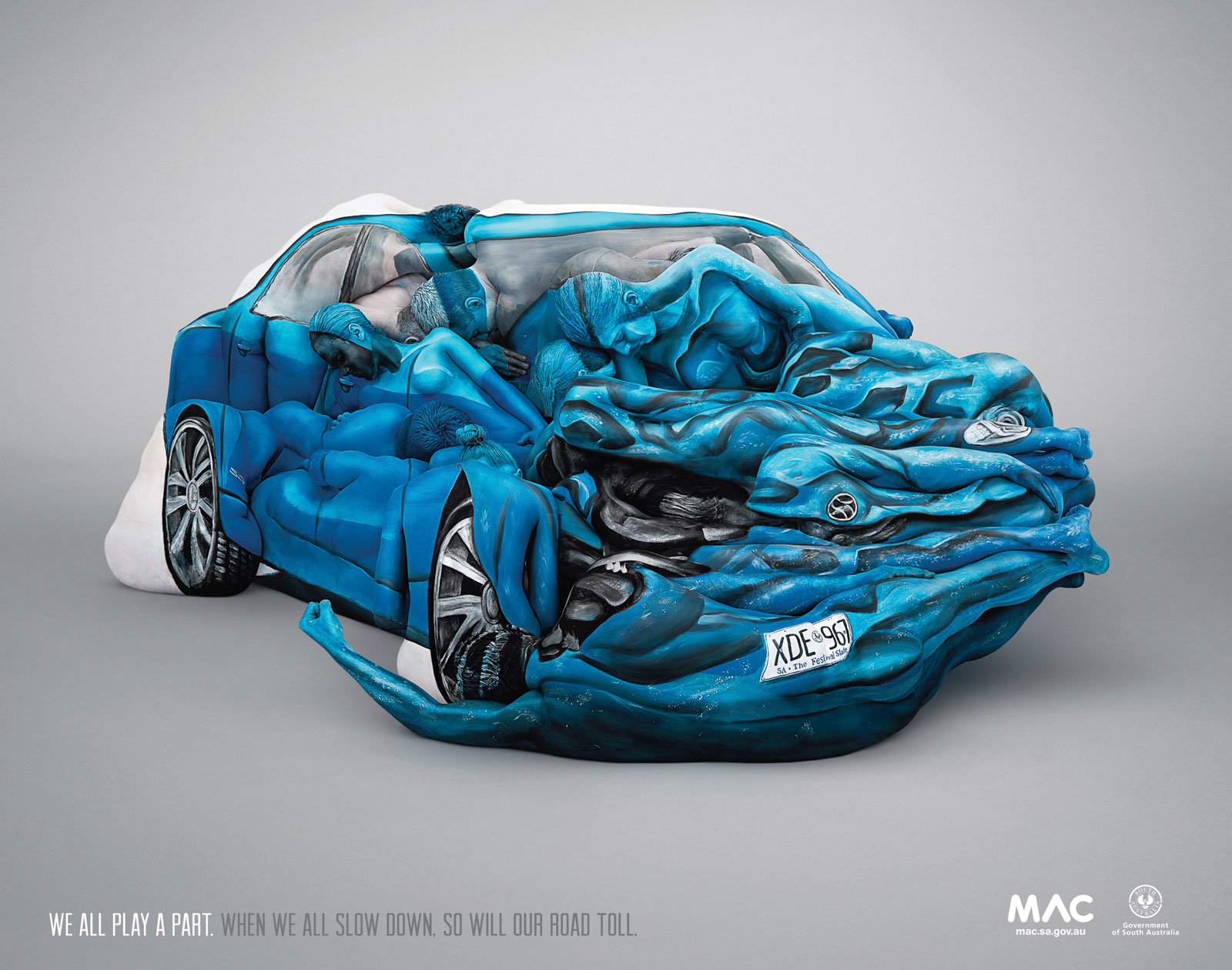 Car Crash Dream Meaning: Amazing Car Crash Sculpture Made With 17 Painted Bodies