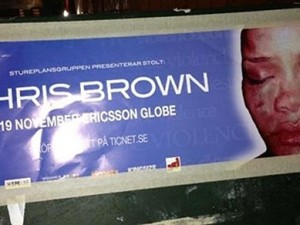 Swedes go guerrilla on Chris Brown (disturbing imagery warning)