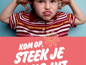 Belgians sticking their tongues out at cancer