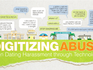 An infographic about online sexual abuse and harassment