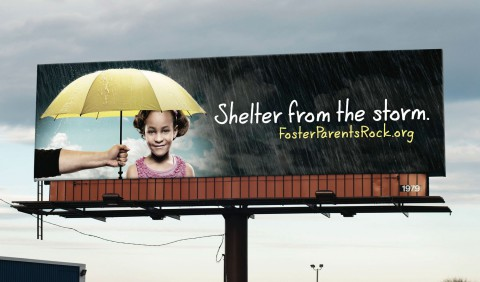 Coalition for Children, Youth and Families: Yellow umbrellas to shelter from the storm