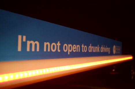 Responsible Young Drivers: PSA installation literally stops youth from driving drunk