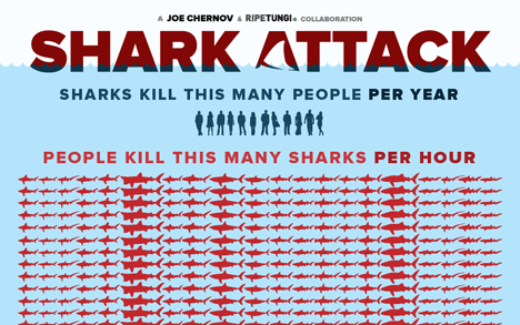 Sharks vs. Humans: Guess who is winning?