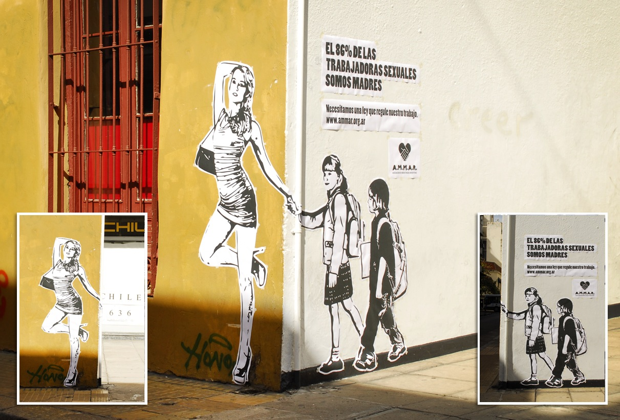 Street art for sex workers\' rights in Argentina - Osocio