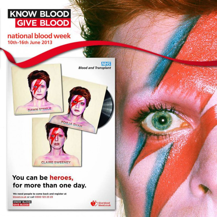 Bowie comeback inspires NHS blood donor campaign