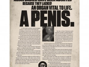 """Who is really behind these powerful """"Gendercide"""" ads?"""