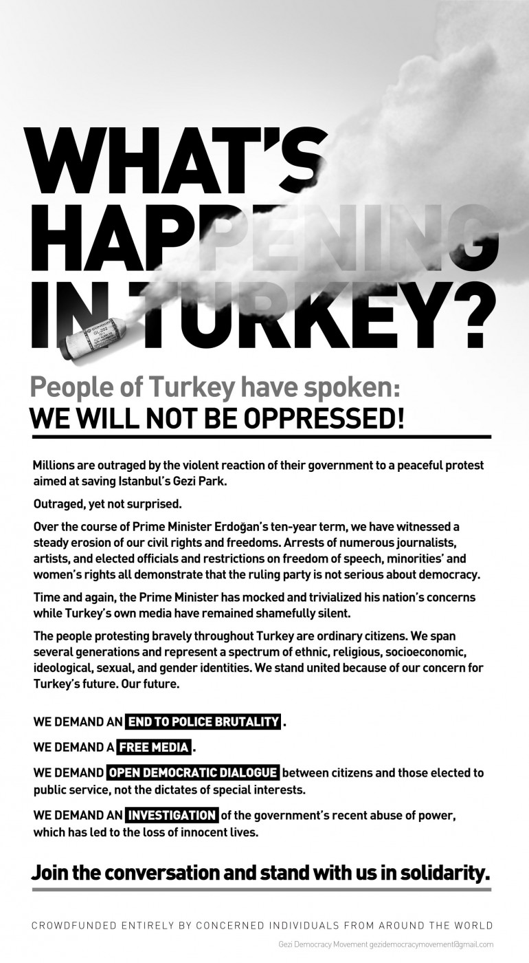 """Crowdfunded """"Turkish Democracy in Action"""" ad hits the New York Times"""