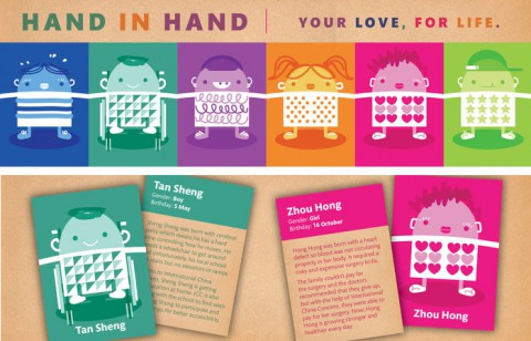Hand in Hand: card game promoting care for abandoned and disabled children