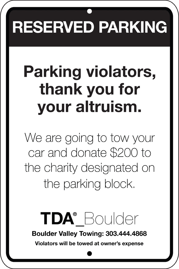 Parking violators as fundraisers