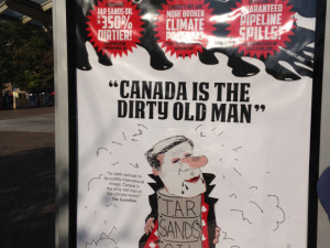 These anti-Canada posters appearing in the United States are the work of a Canadian