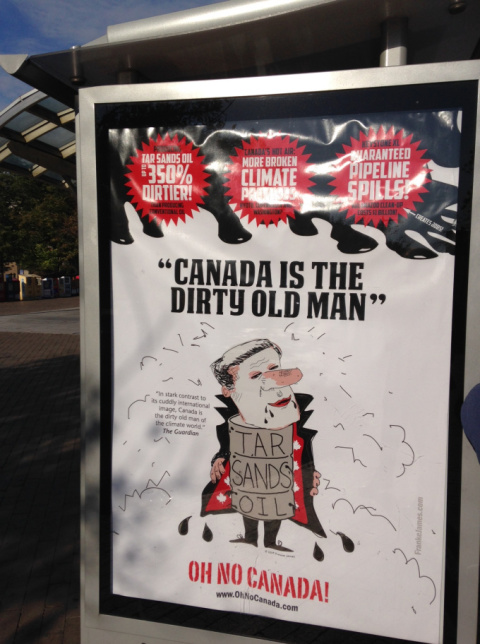 These anti-Canada posters appearing in the United States are the work of Canadian Franke James