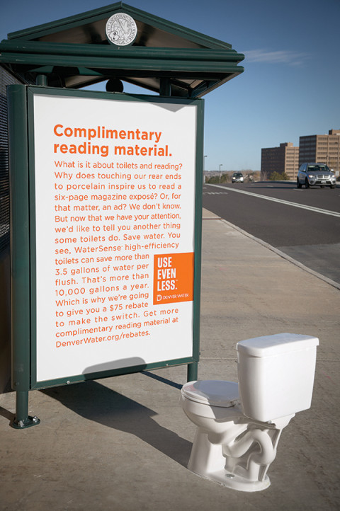 Denver Water: Toilets and long copy are BFFs #ToiletDay
