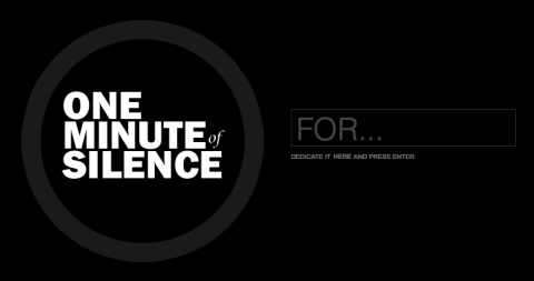 A minute of digital silence