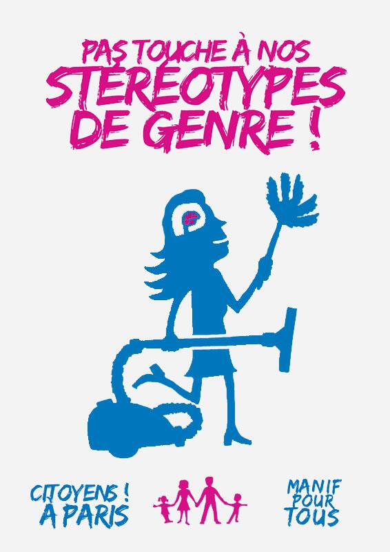 Anti-gay marriage posters supporting gender stereotypes in France