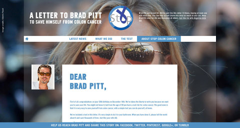 A letter to Brad Pitt that will boost your campaign