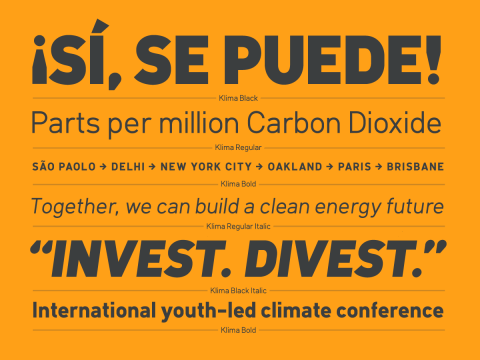 A free typeface for climate loonies