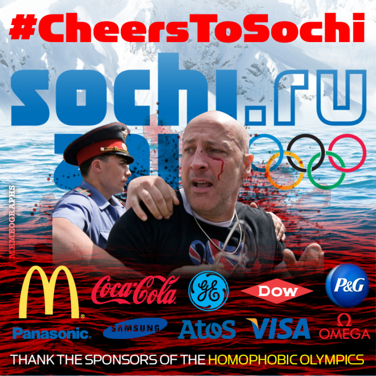 Classic Coke ad hacked to shame Olympic sponsorship