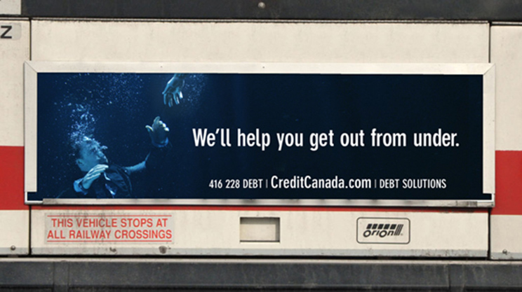 Credit Canada goes underwater to help you get out