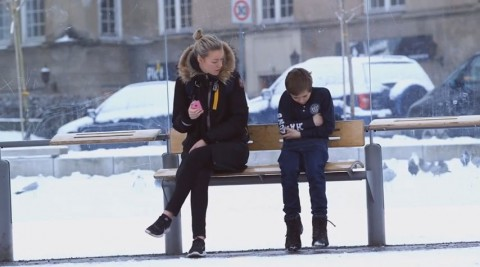 SOS-Barnebyer: Social Experiment: Would You Help A Freezing Child?