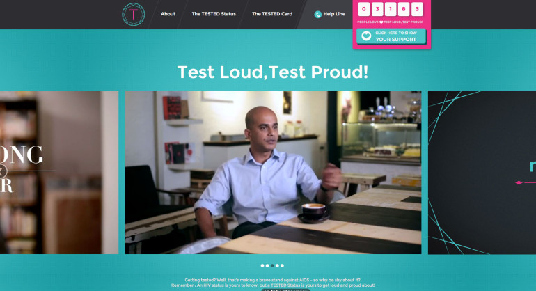 Proud of HIV testing in Singapore