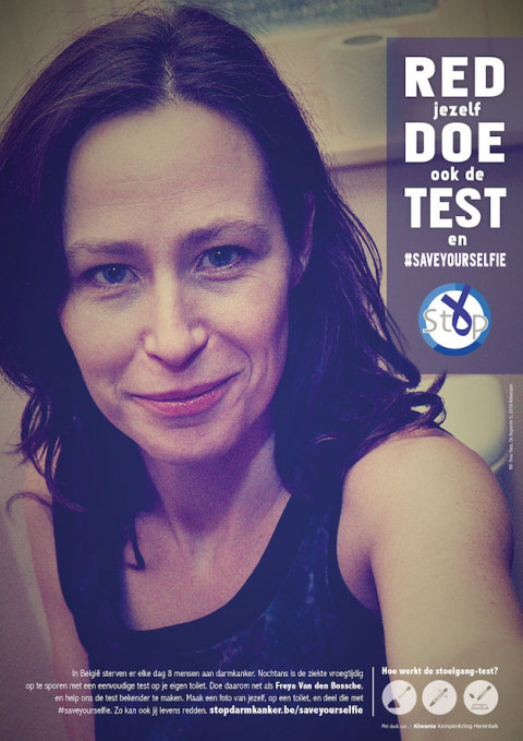Freya Van den Bossche: Save yourself, do the test and #saveyourselfie