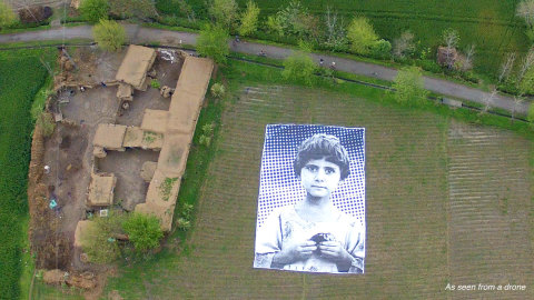 Outdoor art installation #NotABugSplat targets drone operators