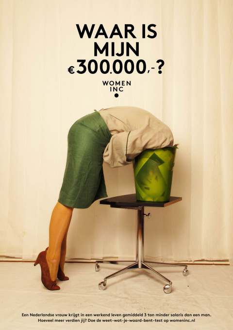 Wage gap: Women looking for their 300K with funny photography