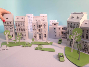 A paper city to tell about energy efficiency