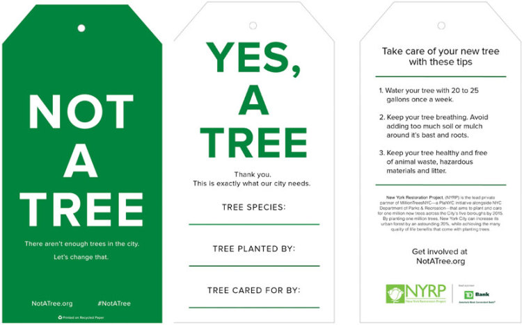 Tree? Not a Tree? Street campaign targets Non-tree huggers in New York