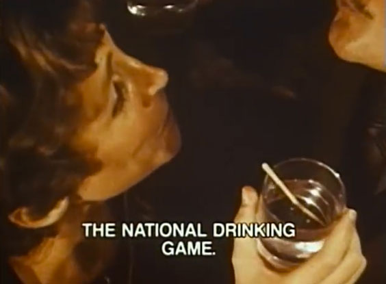 National Institute on Alcohol and Alcoholism:  1970s National Drinking Game