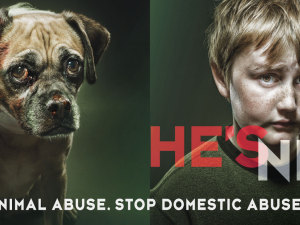 This Provocative Prevention Campaign is about Animal Cruelty and Domestic Violence